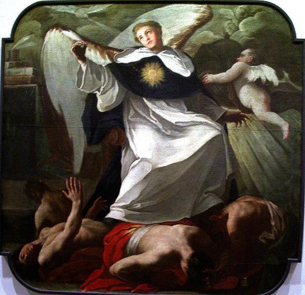 Archivo:Santo Tomás de Aquino venciendo a los herejes.jpg