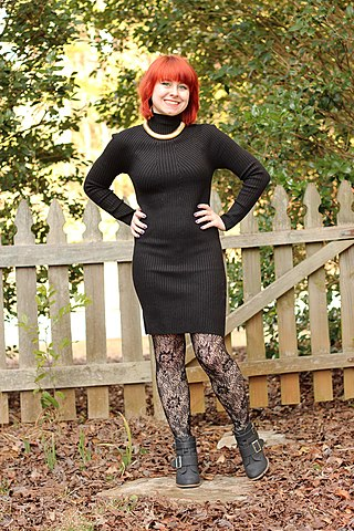 FileTurtleneck Bodycon Sweater Dress Lace Tights Gold