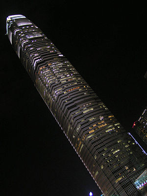 Two International Finance Center at night