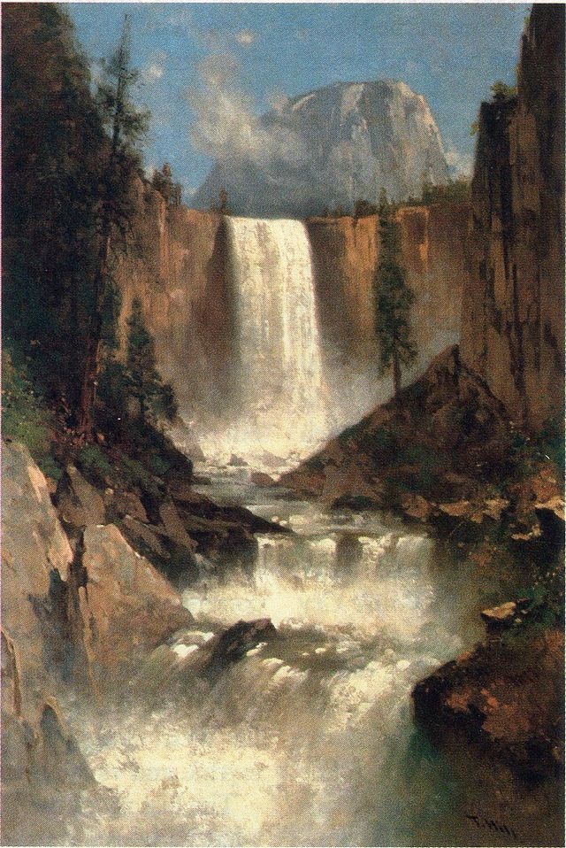 Vernal Falls, Yosemite (Thomas Hill, 1889)