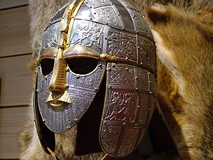 Replica of the helmet from the Sutton Hoo ship...