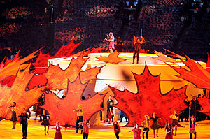 Canadian fiddlers perform during the Opening C...