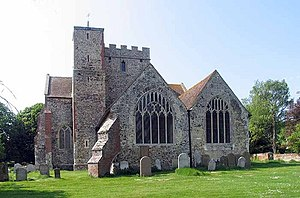 English: All Saints Church, Boughton Aluph, Kent