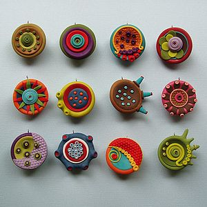 polymer clay (studio by sculpey) pendants