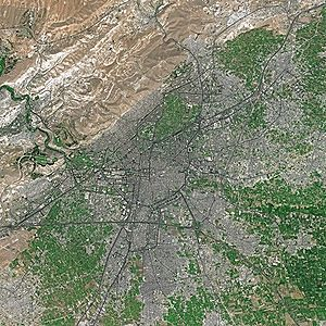 Damascus by SPOT Satellite