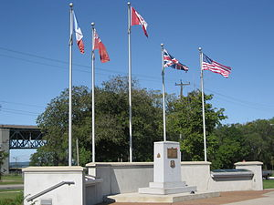 English: Dieppe Veteran's Memorial Park, Beach...