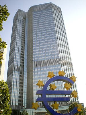 English: European Central Bank ECB Eurotower i...