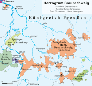 Duchy of Brunswick 1914