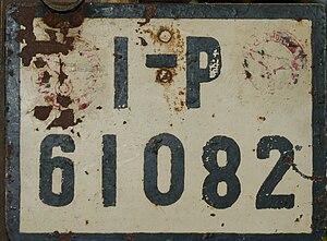KFZ Kennzeichen Pr.S-H 01
