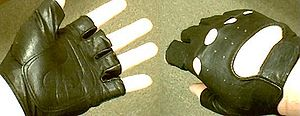 Picture of leather fingerless gloves from Wils...