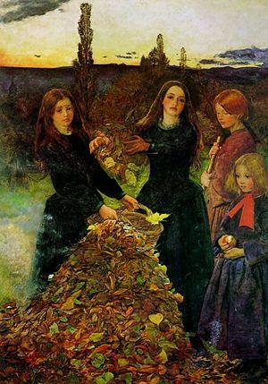 "John Everett Millais, ""Autumn Leaves""."