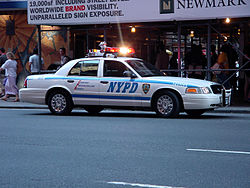 Una patrulla del Departamento de Polic�a de Nueva York en Times Square.