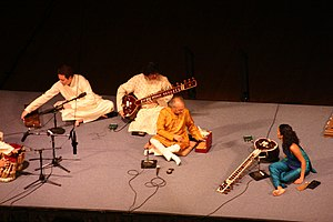 English: Live sitar concert with Ravi Shankar ...