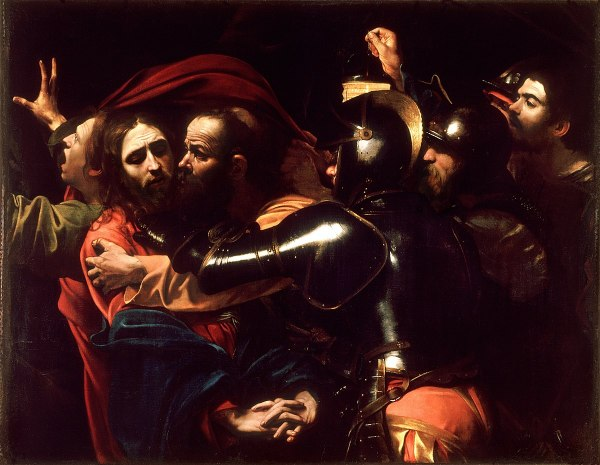 """O monomito de Campbell. """"A Captura de Cristo"""" por Michelangelo Merisi da Caravaggio (1602)"""