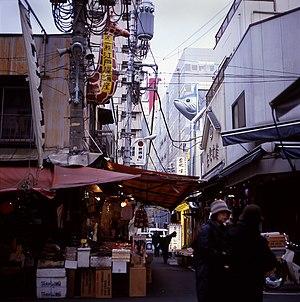 The street of Tsukiji, Tokyo, Japan. Photo tak...