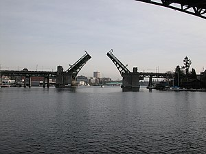 English: Seattle's University Bridge from the ...