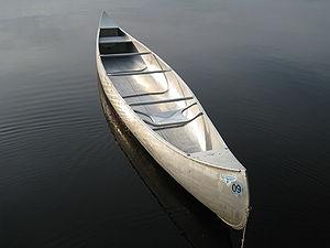 English: A canoe in the BWCA