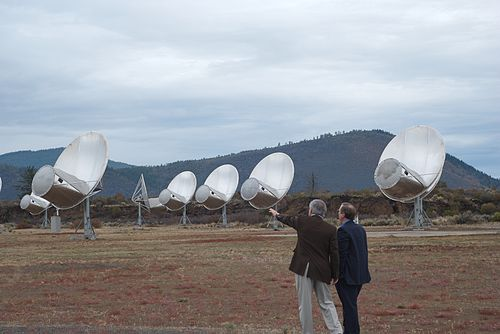 Front view of antennas of the Allen Telescope Array