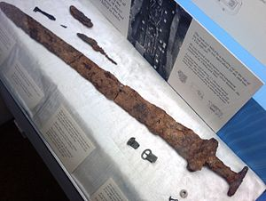 Derby Museum Viking Sword found in Repton
