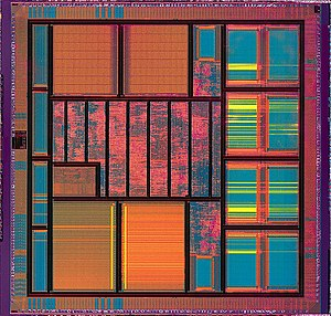 Integrated circuit of Atmel Diopsis 740 System...