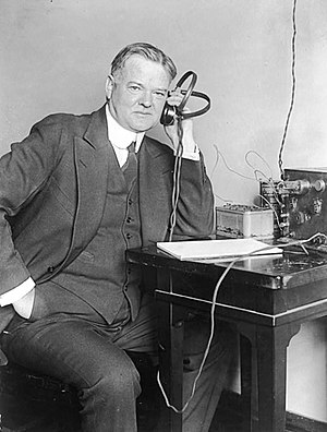 U.S. President Herbert C. Hoover