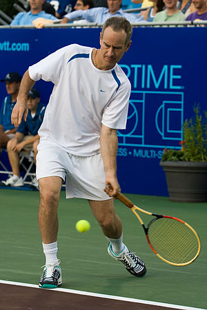 John McEnroe playing World Team Tennis in Mama...
