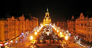 English: The Victory Square in Timisoara; Take...