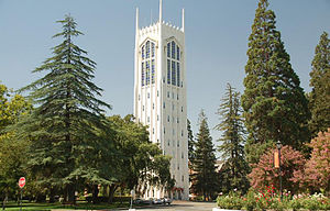 English: UOP Burns Tower in Stockton California