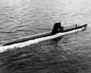 Catfish (SS-339) underway, during her visit to...