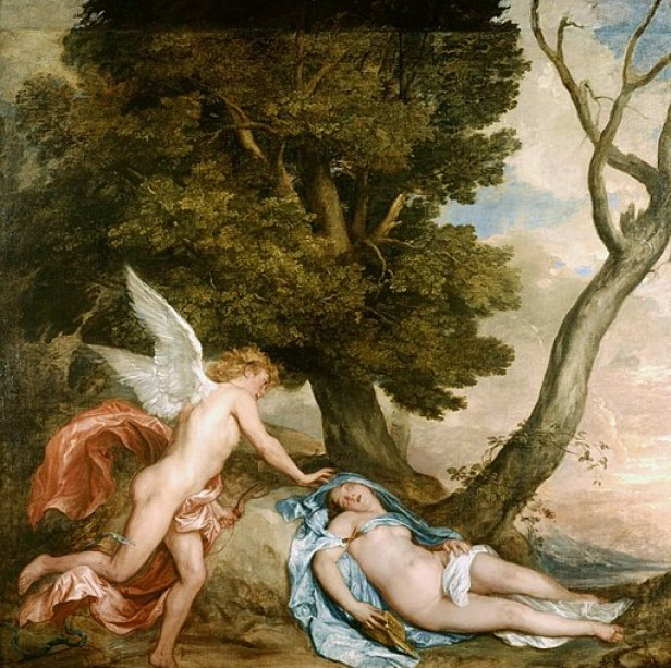 """""""Cupid and Psyche"""" by Anthony van Dyck"""