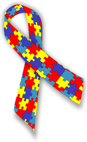 "A ""puzzle"" ribbon to promote Autism ..."
