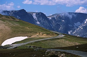Approaching Beartooth Pass from the west along...
