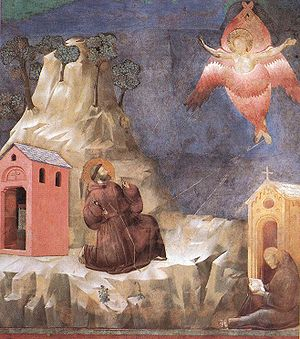 St. Francis receives the Stigmata (fresco attr...