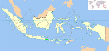 Location of Bali in Indonesia