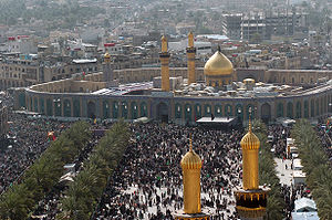 Millions of Shia Muslims gather around the Hus...