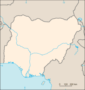 Blank map of Nigeria from CIA World fact book