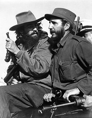 English: Fidel Castro and Camilo Cienfuegos, H...