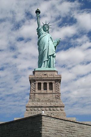 The Statue of Liberty front shot, on Liberty I...