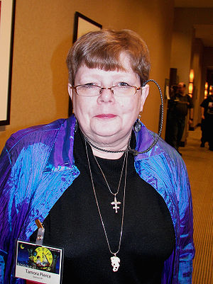 Science fiction author Tamora Pierce at Boskon...
