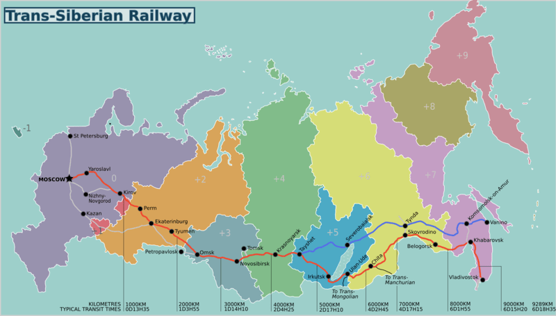The Trans-Siberian is is the longest railway line in the world