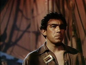 Anthony Quinn in a screenshot from the trailer...