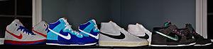 English: Nike, Inc. tennis shoes