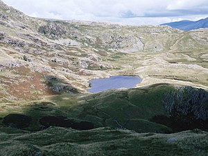 English: Codale Tarn A mixed day of sunshine a...