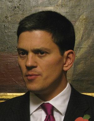 David Miliband, the current Secretary of State...