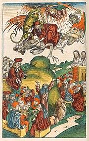 The death of Simon Magus.
