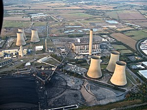 Aerial view from Paramotor of Didcot Power Sta...