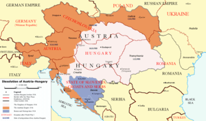 The end of Austria-Hungary after the Paris Treaty.