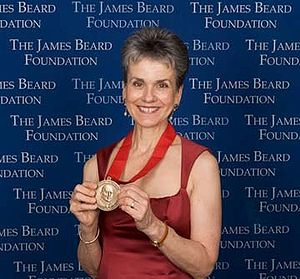 receiving the 2008 Humanitarian Award from the...