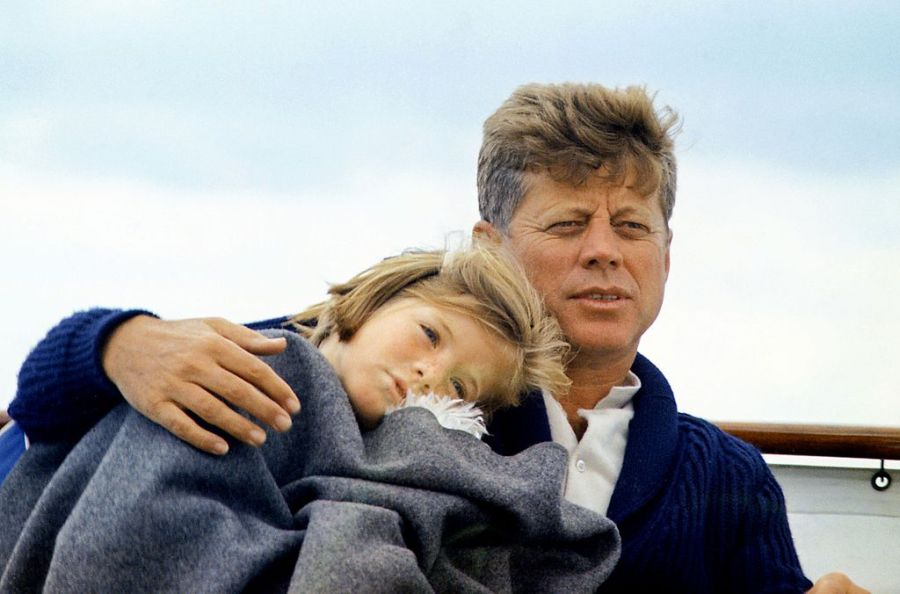 JFK with Caroline on the Honey Fitz, 1963