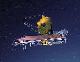 Ilustrasi teleskop ruang angkasa James Webb (Sumber: James Webb Space Telescope, Wikipedia/NASA)